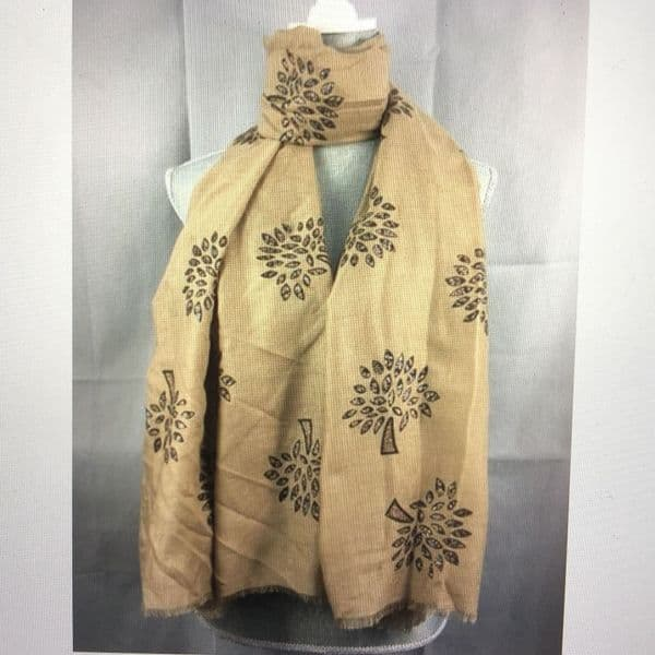 Tree of life scarf with glitter detail - various colours